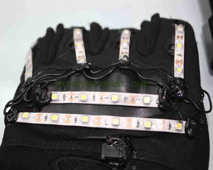 laser gants LED