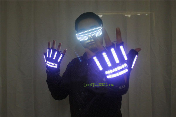 LED laser gants