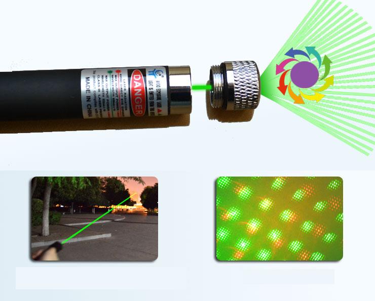 Stylo Pointeur Laser 50MW 532nm Laser Vert  étoilée 2 en 1