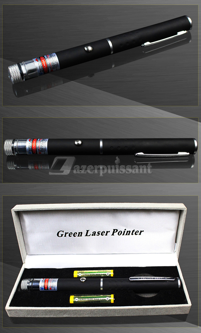 pointeur laser rouge 5mW  650nm 2 en 1