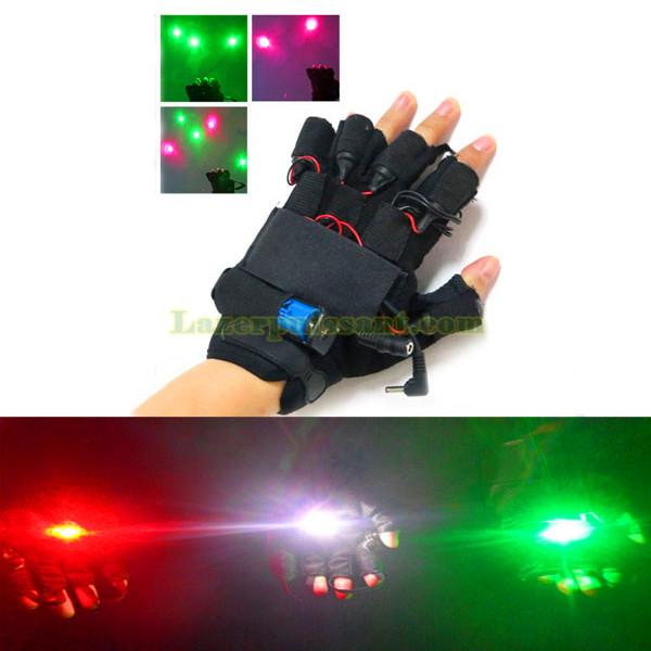 gants laser vert dj