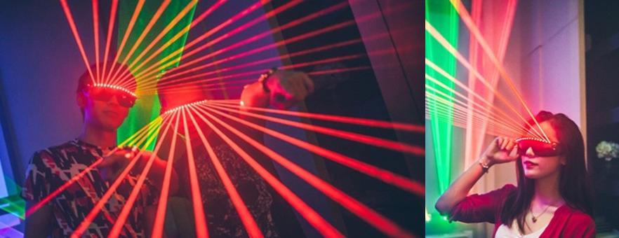Lunettes Laser Rouge LED