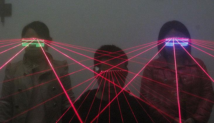 HTPOW Lunettes Laser  LED Rouge  pour le Club DJ
