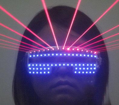 Lunettes Laser  LED Rouge  pour le Club DJ