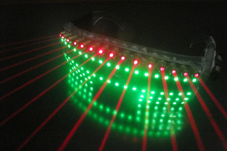 HTPOW Lunettes Laser Rouge LED Verres de Partie Verres Clignotants
