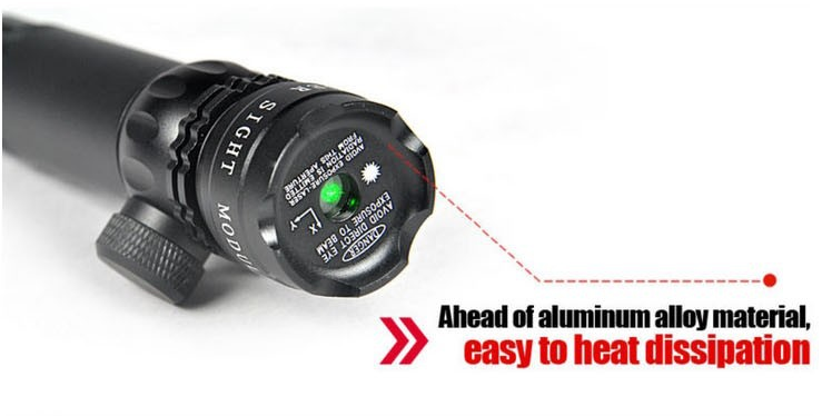 Viseur Laser Point Vert Avec 4 Support pour pistolet 25mm