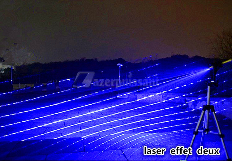 laser puissant bleu