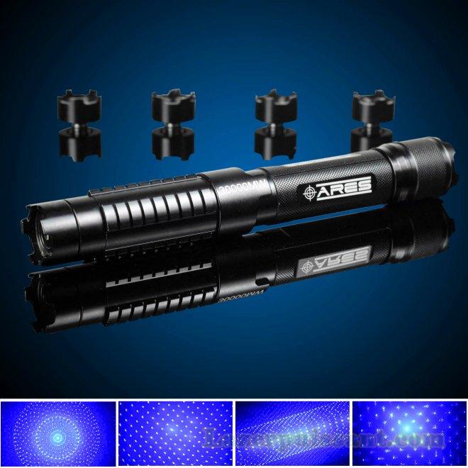 laser tactique puissante bleu 30000mw