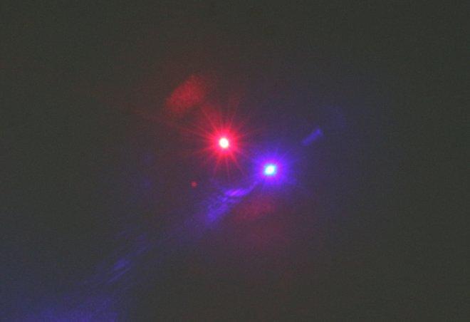 couleur double de pointeur laser