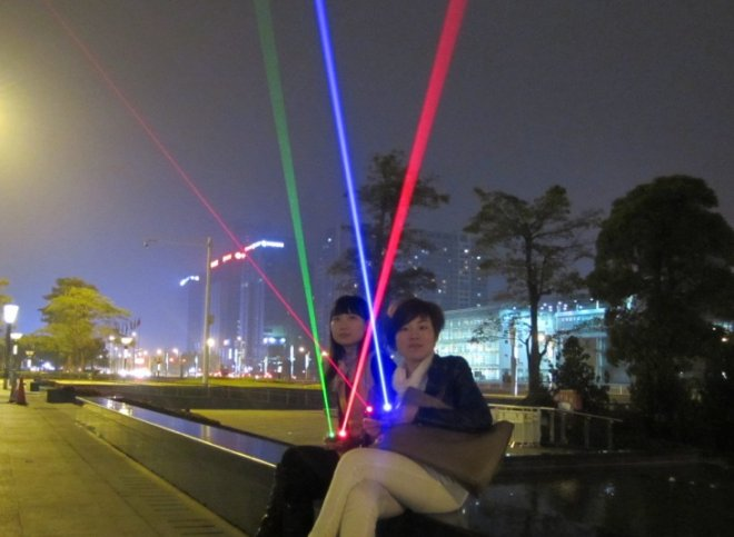 torche laser rouge