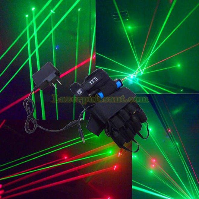 Palm gants de lumière laser bleu pas cher