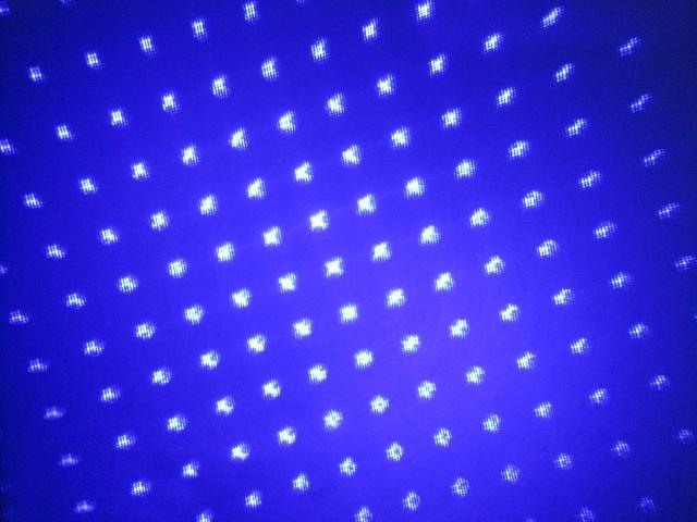 laser portable bleu