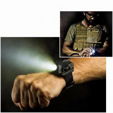 Tactique Bracelet Lampe de Poche LED Rechargeable Montre de Poche