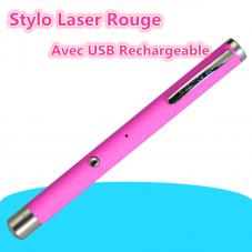 Stylo Laser Rouge 100mw Avec USB Rechargeable