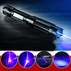 HTPOW Pointeur Laser bleu 30000mW Puissant Laser Lampe LED Pas Cher Prix peut enflammer allumette/une cigarette/pétard et d'éclatement ballon